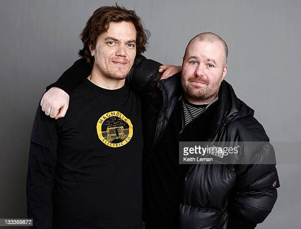 Actor Michael Shannon and writer/director Noah Buschel pose for a portrait during the 2009 Sundance Film Festival held at the Film Lounge Media...