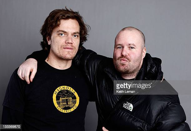 Actor Michael Shannon and writer/director Noah Buschel poses for a portrait during the 2009 Sundance Film Festival held at the Film Lounge Media...