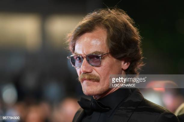US actor Michael Shannon arrives on May 12 2018 for the screening of the film Farenheit 451 at the 71st edition of the Cannes Film Festival in Cannes...