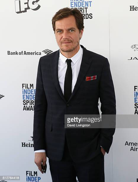 Actor Michael Shannon attends 2016 Film Independent Spirit Awards on February 27 2016 in Santa Monica California