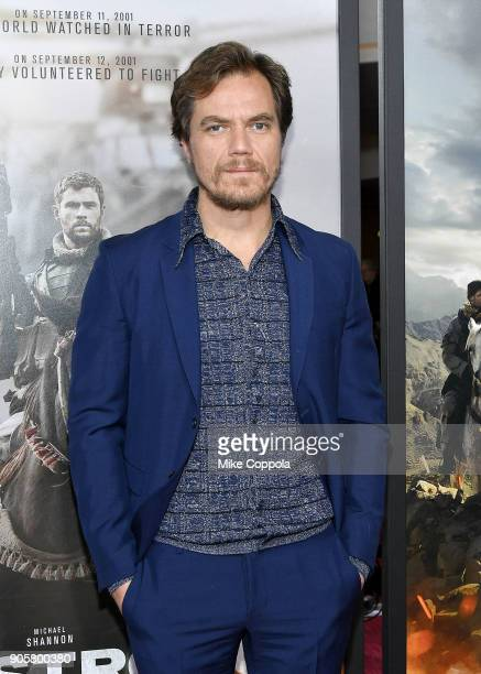 "Actor Michael Shannon attends the ""12 Strong"" World Premiere at Jazz at Lincoln Center on January 16, 2018 in New York City."