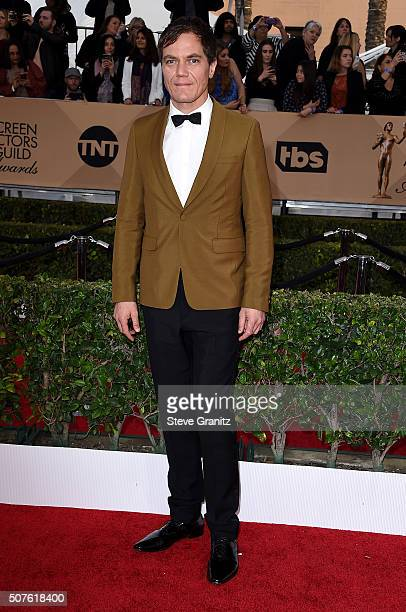Actor Michael Shannon attends the 22nd Annual Screen Actors Guild Awards at The Shrine Auditorium on January 30 2016 in Los Angeles California