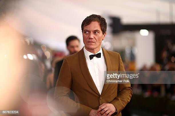 Actor Michael Shannon attends The 22nd Annual Screen Actors Guild Awards at The Shrine Auditorium on January 30 2016 in Los Angeles California...