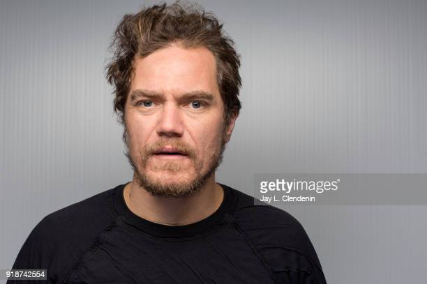 Actor Michael Shannon from the film 'What They Had' is photographed for Los Angeles Times on January 21 2018 in the LA Times Studio at Chase Sapphire...