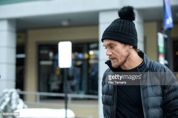Actor Michael Shannon walks in Park City on January 21 2018 in Park City Utah