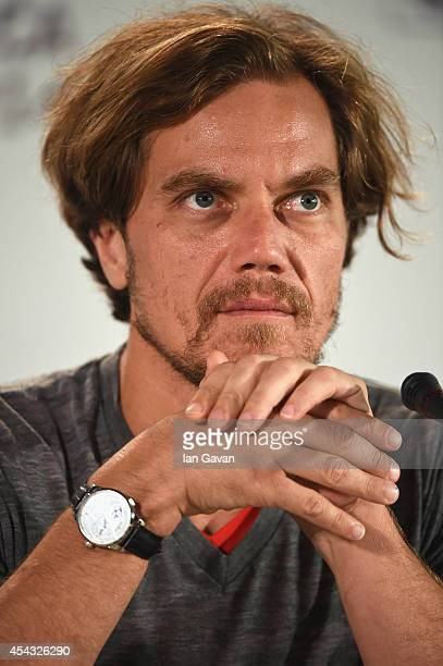 Actor Michael Shannon wearing a Jaeger-LeCoultre Duometre a Quantieme Lunaire watch attends the '99 Homes' press conference before the photocall...