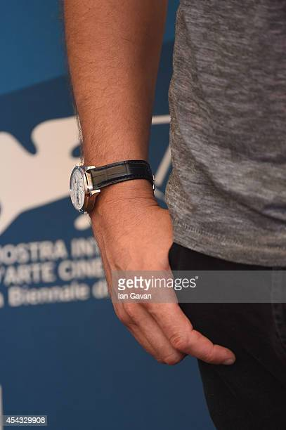 Actor Michael Shannon wearing a JaegerLeCoultre Duometre a Quantieme Lunaire watch attends the '99 Homes' photocall during the 71st Venice Film...