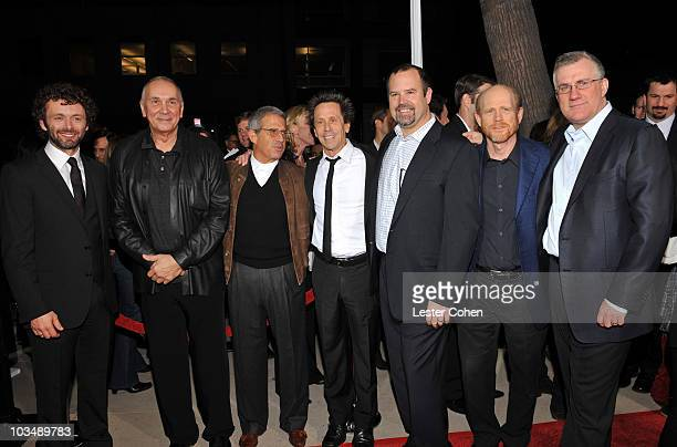Actor Michael Sheen Actor Frank Langella President and COO of NBC Universal Ron Meyer Producer Brian Grazer Universal Pictures Chairman Marc Shmuger...