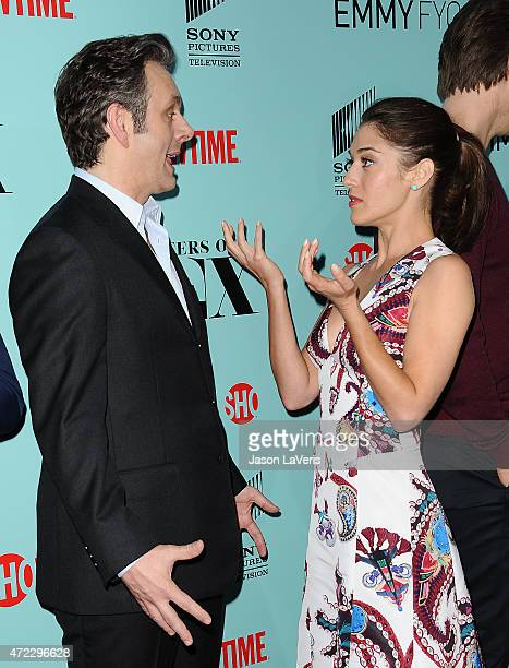Actor Michael Sheen and actress Lizzy Caplan attend the Showtime and Sony Pictures Television's 'Masters Of Sex' screening at Cary Grant Theater on...