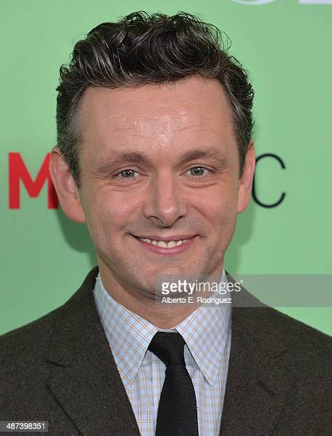 Actor Michael Sheen arrive to an exclusive conversation with the cast of Showtime's Masters Of Sex at Leonard H Goldenson Theatre on April 29 2014 in...