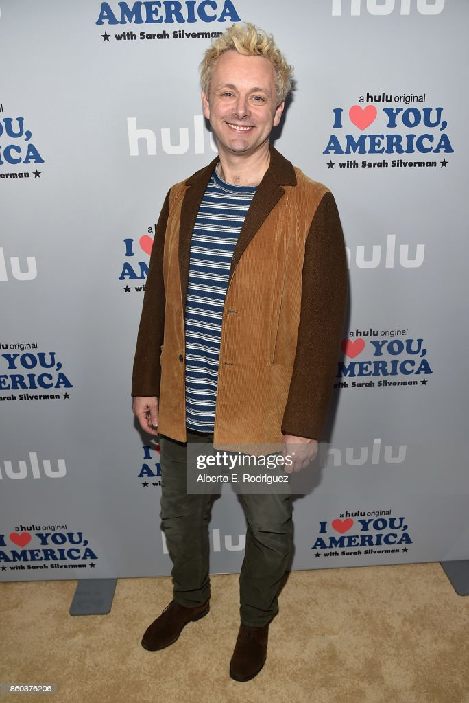 Actor Michael Sheen attends a photo op for Hulu's 'I Love You America' with Sarah Silverman at Chateau Marmont on October 11, 2017 in Los Angeles, California.