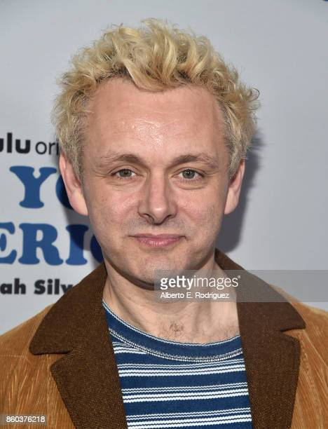 Actor Michael Sheen attends a photo op for Hulu's I Love You America with Sarah Silverman at Chateau Marmont on October 11 2017 in Los Angeles...