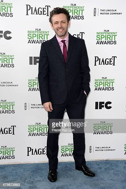 Actor Michael Sheen attends the 2014 Film Independent Spirit Awards at Santa Monica Beach on March 1 2014 in Santa Monica California
