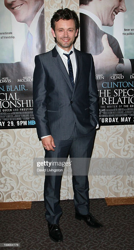 Actor Michael Sheen attends the premiere of HBO Films 'The Special Relationship' at the Directors Guild of America on May 19, 2010 in Los Angeles, California.