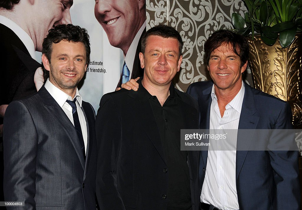 Actor Michael Sheen, writer Peter Morgan and actor Dennis Quaid attend HBO Film's 'The Special Relationship' Los Angeles Premiere at Directors Guild Theatre on May 19, 2010 in West Hollywood, California.