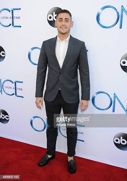 """Actor Michael Socha attends ABC's """"Once Upon A Time"""" Season 4 red carpet premiere at the El Capitan Theatre on September 21, 2014 in Hollywood,..."""