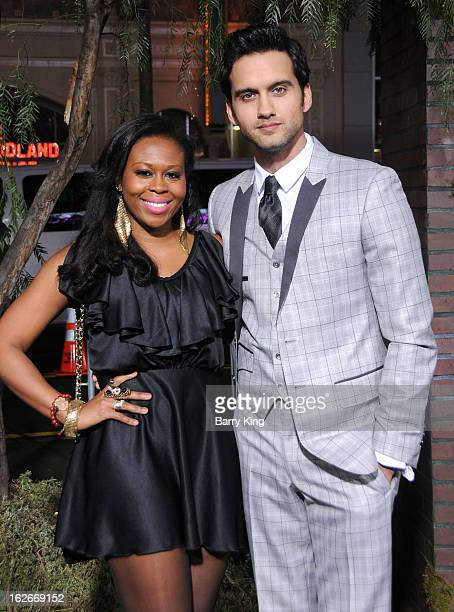 Actor Michael Steger and wife Brandee Tucker arrive at the Los Angeles Premiere 'Beautiful Creatures' at TCL Chinese Theatre on February 6 2013 in...
