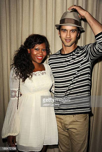 Actor Michael Steger and wife Brandee Tucker attend the CANPARTY fundraiser event at Palihouse on August 18 2012 in West Hollywood California