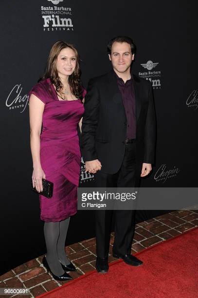 Actor Michael Stuhlbarg and Guest attend the 2010 Virtuoso Awards presented by Chopin Vodka during the 25th Annual Santa Barbara International Film...