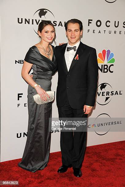Actor Michael Stuhlbarg and MaiLinh Lofgren arrive at the NBC/Universal/Focus Features Golden Globes After party presented by Cartier at The Beverly...