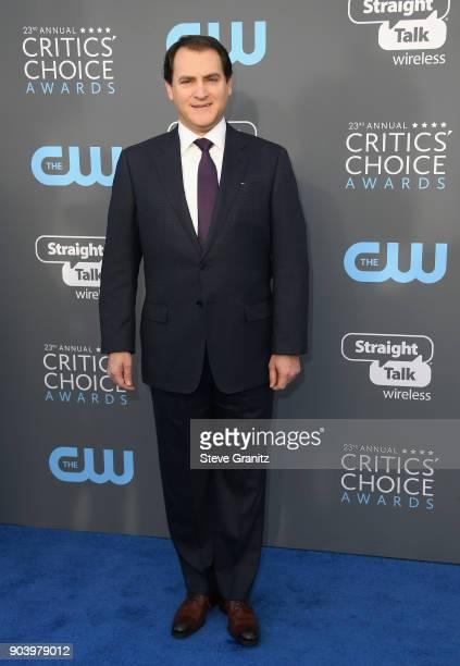 Actor Michael Stuhlbarg attends The 23rd Annual Critics' Choice Awards at Barker Hangar on January 11 2018 in Santa Monica California