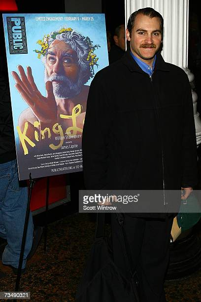 Actor Michael Stuhlbarg attends the opening night of King Lear at The Public Theater March 4, 2007 in New York City.