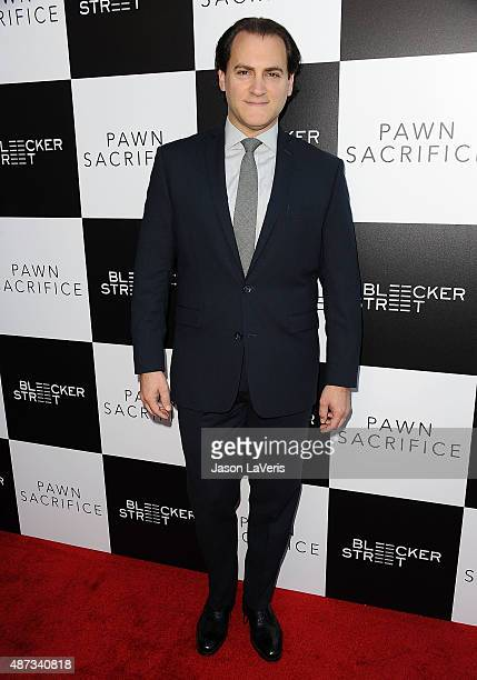 Actor Michael Stuhlbarg attends the premiere of Pawn Sacrifice at Harmony Gold Theatre on September 8 2015 in Los Angeles California