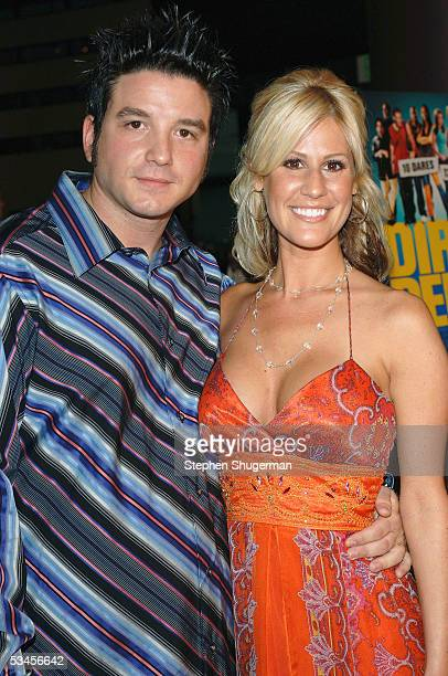 Actor Michael Sullivan and actress Janet Lagrassa attend the world premiere of Dirty Deeds at the Directors Guild of America on August 23 2005 in Los...