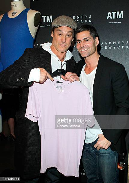 Actor Michael T Weiss and designer Tony Melillo attends Barneys of New York along with Kevin Huvane and Stephen Huvane celebrate Tony Melillo and the...