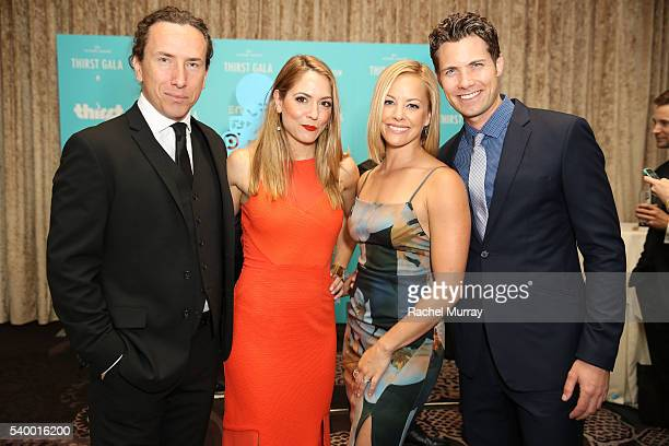 Actor Michael Traynor actress Brooke Nevin actress Amy Paffrath and musician Drew Seeley attend the 7th Annual Thirst Gala at The Beverly Hilton...