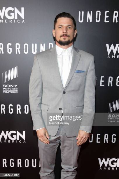 Actor Michael Trotter attends WGN America's Underground Season Two Premiere Screening at Regency Village Theatre on March 1 2017 in Westwood...