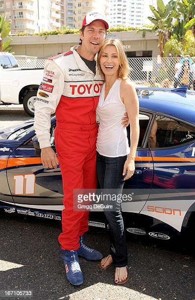 Actor Michael Trucco and actress/wife Sandra Hess attend the 37th Annual Toyota Pro/Celebrity Race on April 20 2013 in Long Beach California