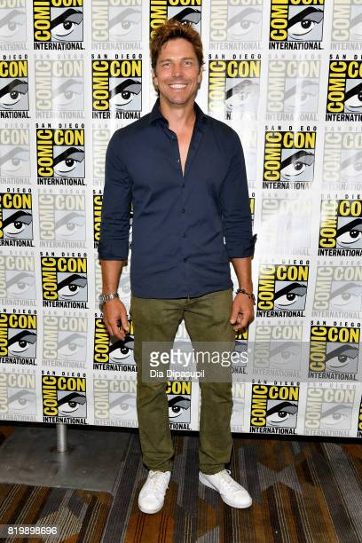"""Actor Michael Trucco at the """"Battlestar Galactica"""" Reunion press line during Comic-Con International 2017 at Hilton Bayfront on July 20, 2017 in San..."""