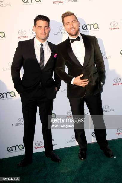 Actor Michael Turchin and Lance Bass attend the 27th Annual EMA Awards at Barker Hangar on September 23 2017 in Santa Monica California