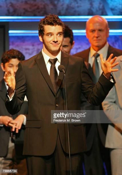 "Actor Michael Urie accepts the awards for Outstanding Comedy Series for ""Ugly Betty"" onstage during the 18th Annual GLAAD Media Awards at the Kodak..."