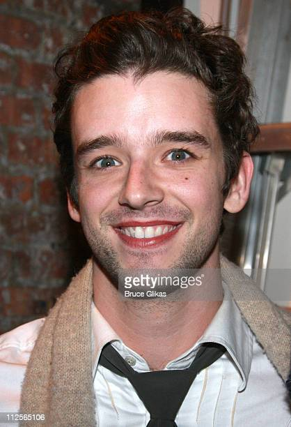 Actor Michael Urie arrives at 'Xanadu' on Broadway at The Helen Hayes Theater on December 21 2007 in New York City New York