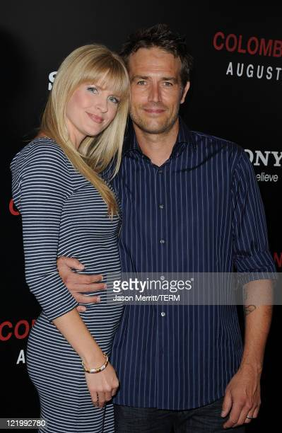 Actor Michael Vartan and his wife Lauren Vartan arrive at the screening of Columbia Pictures' 'Colombiana' on August 24 2011 in Los Angeles California
