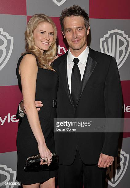 Actor Michael Vartan and Lauren Skaar arrive at the 2011 InStyle And Warner Bros 68th Annual Golden Globe Awards postparty held at The Beverly Hilton...