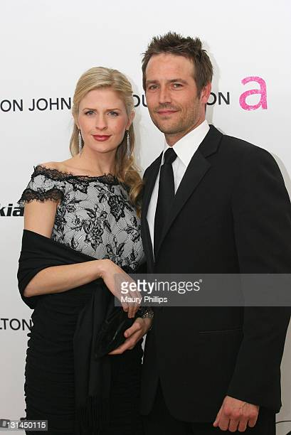 Actor Michael Vartan and Lauren Skaar attends the 19th Annual Elton John AIDS Foundation's Oscar viewing party held at the Pacific Design Center on...