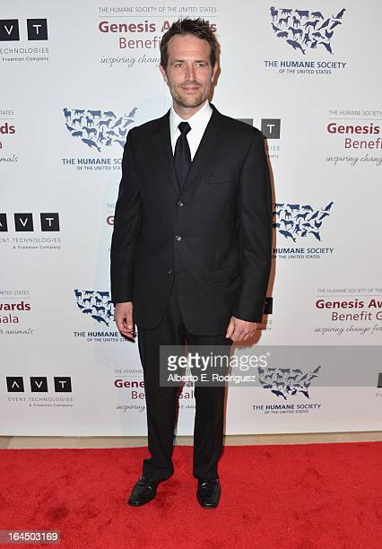 Actor Michael Vartan arrives to the 2013 Genesis Awards Benefit Gala at The Beverly Hilton Hotel on March 23 2013 in Beverly Hills California