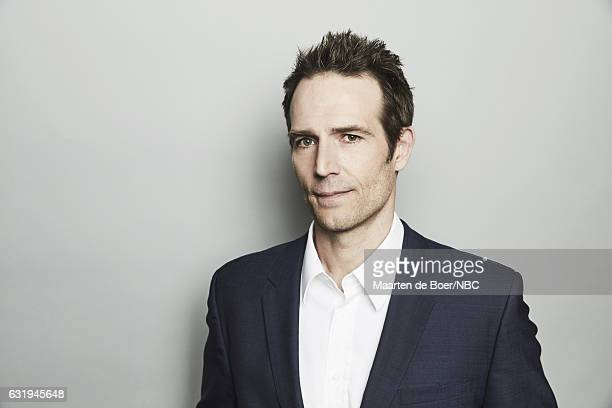 Actor Michael Vartan of 'The Arrangement' poses for a portrait in the NBCUniversal Press Tour portrait studio at The Langham Huntington Pasadena on...
