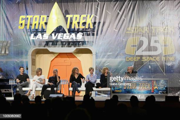 Actor Michael Welch actress Kate Vernon actor and fight director Steve Rankin actresses Dina Meyer Martha Hackett Catherine Hicks and StarTrekcom...