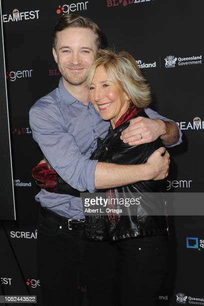 Actor Michael Welch and actress Lin Shaye arrive for Screamfest Closing Night Final Wish held at the TCL Chinese Theatre 6 on October 17 2018 in Los...