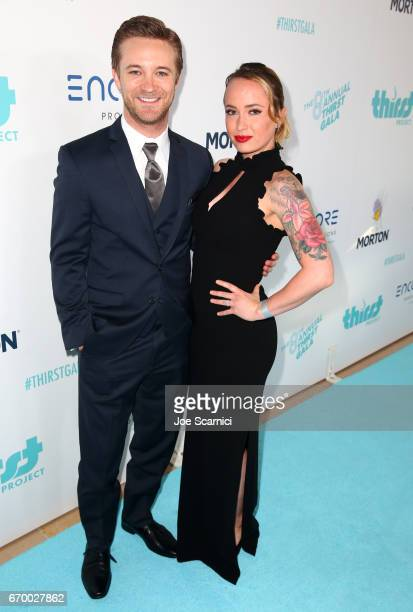 Actor Michael Welch and Samantha Maggio attend the Thirst Project's 8th Annual thirst Gala at Beverly Hills Hotel on April 18 2017 in Beverly Hills...