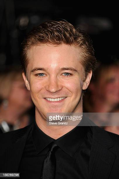Actor Michael Welch arrives at The Twilight Saga Breaking Dawn Part 2 Los Angeles premiere at Nokia Theatre LA Live on November 12 2012 in Los...