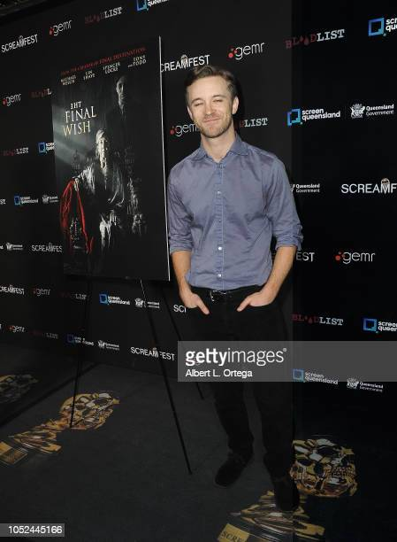 Actor Michael Welch arrives for Screamfest Closing Night Final Wish held at the TCL Chinese Theatre 6 on October 17 2018 in Los Angeles California