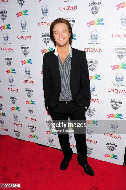 Actor Michael Welch arrives to host an evening at Crown Nightclub on June 12 2010 in Las Vegas Nevada