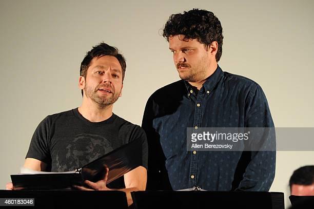 Actor Michael Weston and actor Matt Jones participate in Sundance Institute Feature Film Program screenplay reading of Still at The Microsoft Lounge...