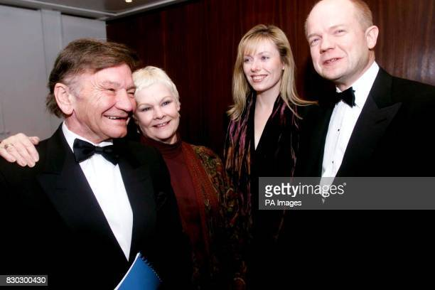 Actor Michael Williams his wife Dame Judi Dench Ffion and William Hague arriving for 'The Story of Christmas' an evening of music and readings to...