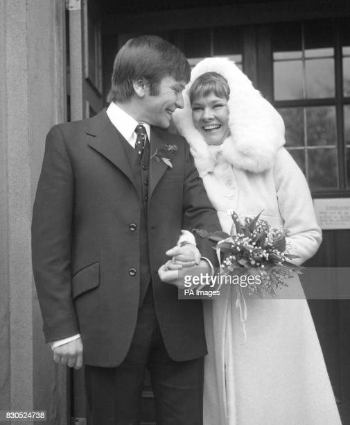 Actor Michael Williams on the day that he wed actress Judi Dench at St Mary's church Holly Place Hampstead